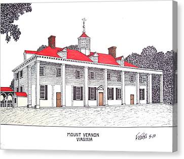 Mount Vernon Canvas Print by Frederic Kohli