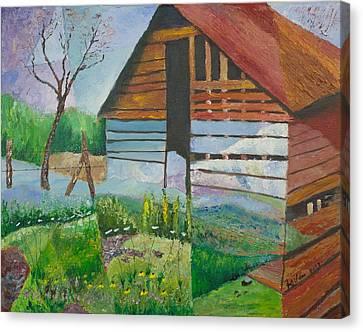 Mountain Barn Canvas Print by William Killen