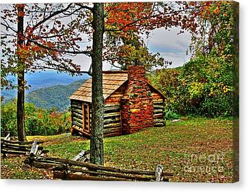 Mountain Cabin 1 Canvas Print by Dan Stone