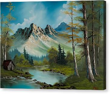 Mountain Retreat Canvas Print by C Steele