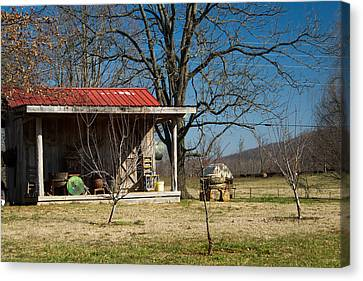 Mountain Cabin In Tennessee 2 Canvas Print by Douglas Barnett