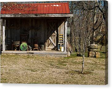Mountain Cabin In Tennessee 3 Canvas Print by Douglas Barnett