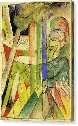 Mountain Goats 1914 Canvas Print by Franz Marc