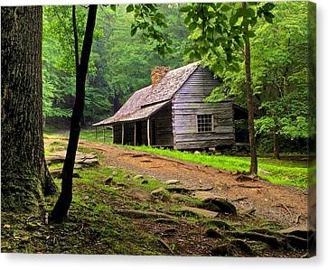 Mountain Hideaway Canvas Print by Frozen in Time Fine Art Photography