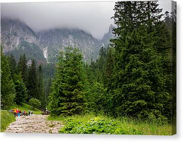 Mountain Hiking Canvas Print by Pati Photography