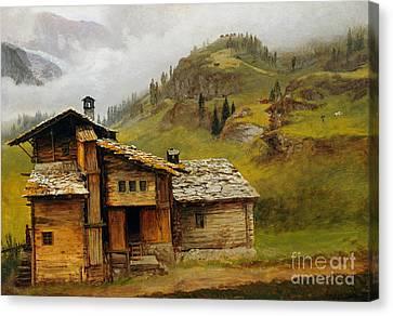 Mountain House  Canvas Print by Albert Bierstadt