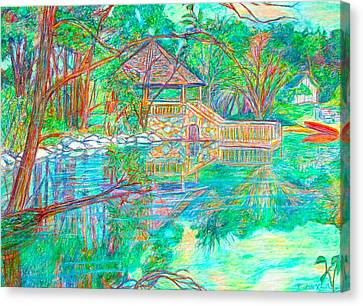 Mountain Lake Reflections Canvas Print by Kendall Kessler