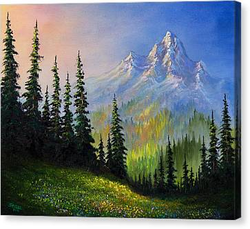 Mountain Morning Canvas Print by C Steele
