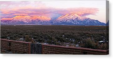 Mountain Range Viewed From A Adobe Canvas Print by Panoramic Images