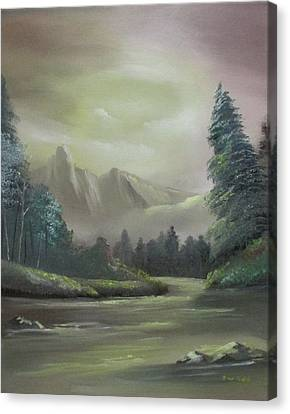 Mountain River Canvas Print by Dawn Nickel