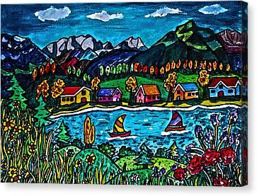 Mountain Sail Canvas Print by Monica Engeler