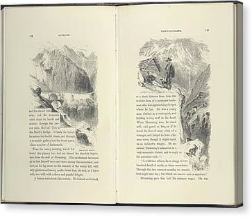 Mountain Scenes Canvas Print by British Library