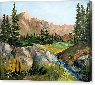 Mountain Stream Canvas Print by Dorothy Maier