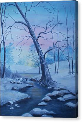 Mountain Stream  Canvas Print by Glenda Barrett