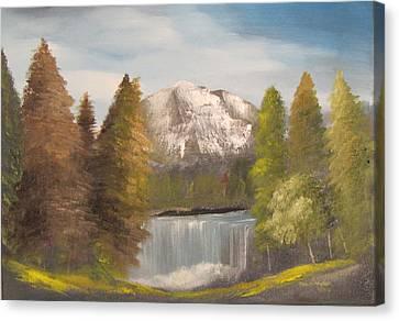 Mountain View Canvas Print by Dawn Nickel