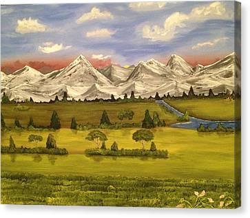 Mountain View Canvas Print by Scott Wilmot