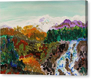 Mountain Water Canvas Print by Mary Carol Williams