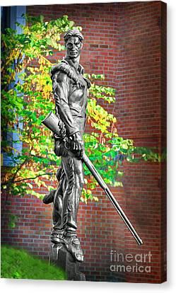 Mountaineer Statue Canvas Print by Dan Friend