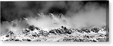 Mountains Of Morteratsch Canvas Print by Marc Huebner