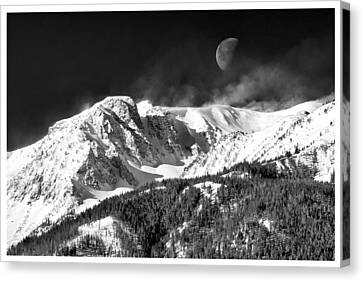 Mountains Of The Moon Canvas Print by Adele Buttolph