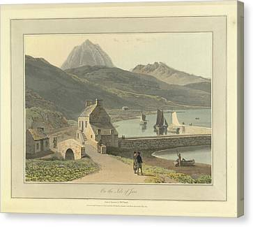 Mountains On The Isle Of Jura Canvas Print by British Library