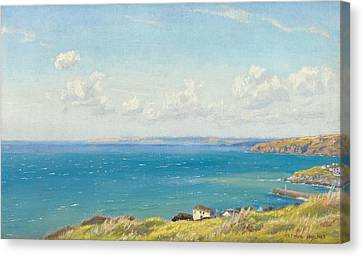 Mount's Bay C1899 Canvas Print by Arthur Hughes