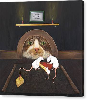 Mouse House Canvas Print by Karen Zuk Rosenblatt