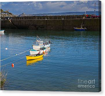 Mousehole Cornwall Canvas Print by Louise Heusinkveld