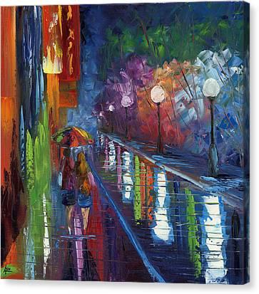 Movie Night Canvas Print by Ash Hussein