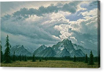 Moving Clouds-mount Moran Canvas Print by Paul Krapf