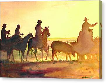 Moving Cows Canvas Print by Don Dane