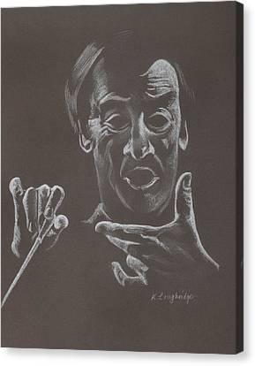 Mr Conductor Canvas Print by Karen Loughridge KLArt
