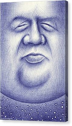 Cartoon Canvas Print featuring the drawing Mr. Moon by Cristophers Dream Artistry