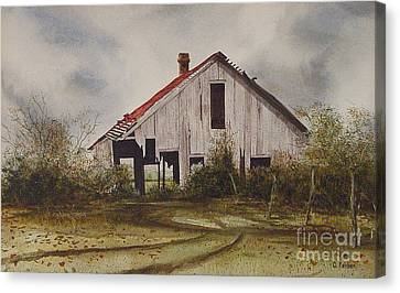 Mr. Munker's Old Barn Canvas Print by Charles Fennen