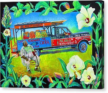 Mr Okra Canvas Print by Pamela Iris Harden