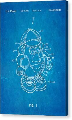 Mr Potato Head Patent Art 2001 Blueprint Canvas Print by Ian Monk