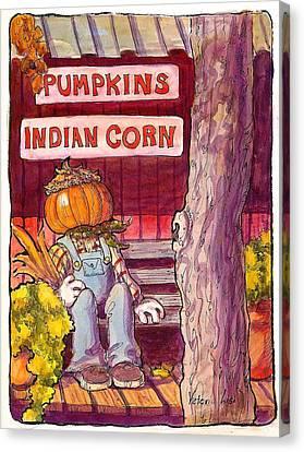Mr. Pumpkin Canvas Print by Victoria Lisi