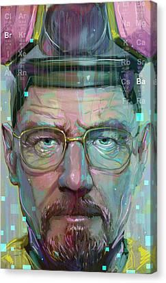 Mr. White Canvas Print by Jeremy Scott