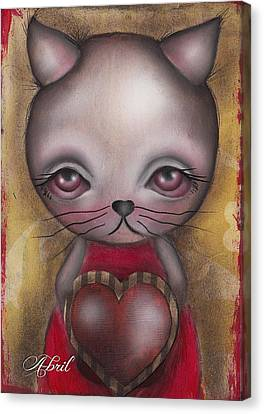 Ms. Cat Canvas Print by  Abril Andrade Griffith