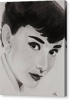 Ms Hepburn Canvas Print by Brian Broadway