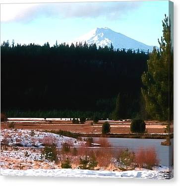 Mt Bachelor 1144 2 Canvas Print by Jerry Sodorff