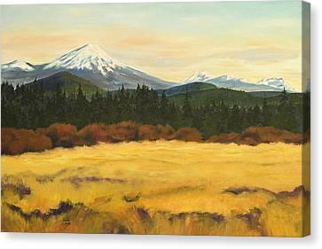 Mt. Bachelor Canvas Print by Donna Drake