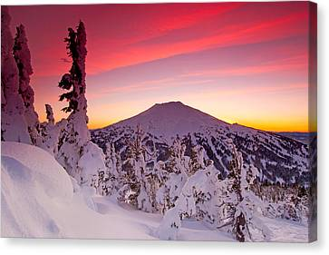 Mt. Bachelor Winter Twilight Canvas Print by Kevin Desrosiers