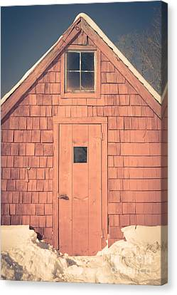 Mt. Cube Sugar Shack Orford New Hampshire Canvas Print by Edward Fielding