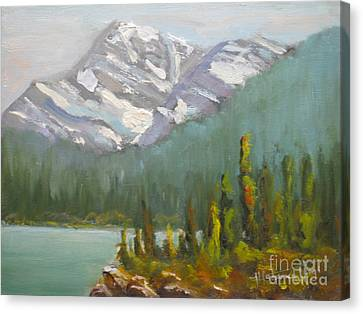 Mt. Edith Cavell Canvas Print by Mohamed Hirji