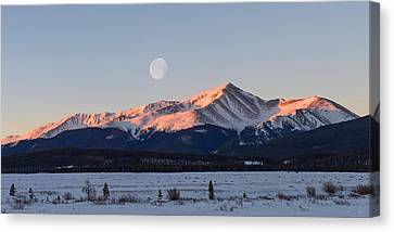 Mt. Elbert Sunrise Canvas Print by Aaron Spong