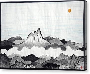 Mt. Himang Canvas Print by Taikan Nishimoto
