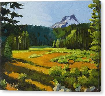 Mt. Hood Meadow Canvas Print by Alice Leggett