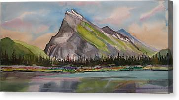 Mt. Rundle Canvas Print by Mohamed Hirji