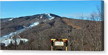 Mt Snow Vermont Canvas Print by Mary Anne Williams